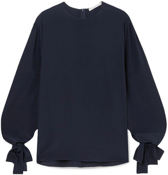 Stella McCartney Jaden Tie-detailed Silk Crepe De Chine Blouse