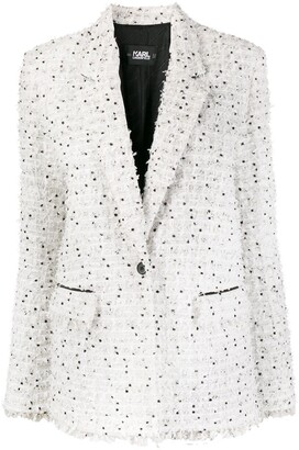 Karl Lagerfeld Paris Boucle Tweed Blazer