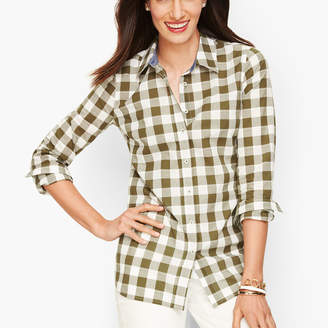 Talbots Classic Cotton Shirt - Bayleaf Gingham