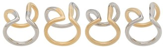 Maison Margiela Set Of 4 Rings