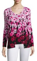 Saks Fifth Avenue COLLECTION Floral Print Cardigan