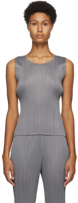 Pleats Please Issey Miyake Grey Basics Tank Top