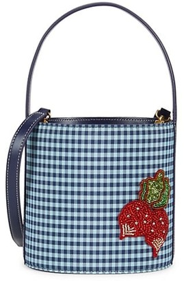 STAUD Bissett Gingham Nylon Bucket Bag