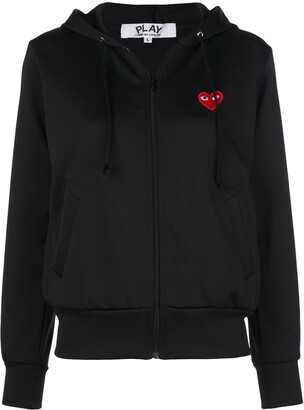Comme des Garcons Heart-Patch Zip-Up Hoodie