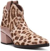 Donald J Pliner Women's FRANIE - SIGNATURE Snow Leopard Haircalf and Pearlized Calf Leather Bootie