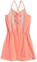 Roxy Crisscross Embroidered Cotton Boho Dress, Toddler & Little Girls (2T-6X)