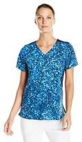 Carhartt Women's Cross-Flex Knit Mix Print Scrub Top