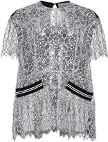 Preen by Thornton Bregazzi Anna Lace Detailed Short Sleeved Top
