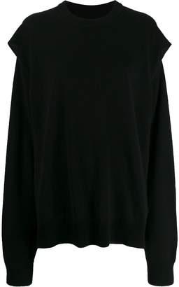Maison Margiela sleeve cutout sweatshirt