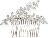 Jennifer Behr Elissa Rhodium-plated Swarovski Crystal Hair Slide - Silver