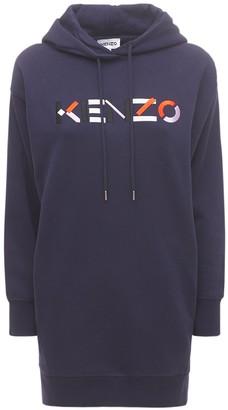 Kenzo Logo Cotton Fleece Sweat Dress