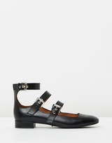 Whistles Multi Buckle Square Toe Shoes