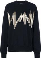 Balmain - logo print sweatshirt -