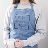 Clouds and Currents Personalised Anniversary Denim Apron