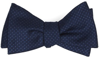 Tie Bar Dotted Spin Navy Bow Tie