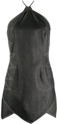 David Koma Sleeveless Topstitching Dress