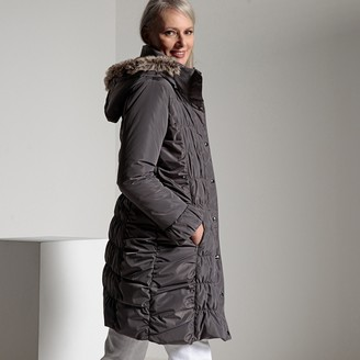 Anne Weyburn Padded Down Duvet Jacket with Water-Repellent and Stain-Resistant Treatment