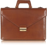L.a.p.a. Double Gusset Leather Briefcase