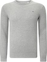 Gant Cotton Pique Crew Jumper, Light Grey Melange