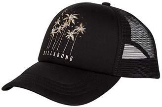 Billabong Women's Baseball Caps BKV_BLACK/VANILLA - Black & Vanilla Palm Tree Logo Across Waves Trucker Hat