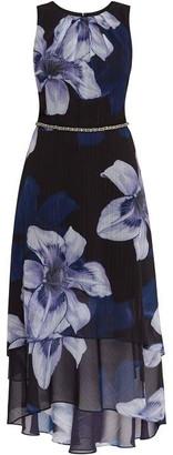 Gina Bacconi Amanda Floral Layered Dress