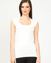 Le Château Viscose Blend Scoop Neck Shell