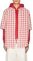 Acne Studios Men's Alkany Gingham Cotton-Linen Shirt