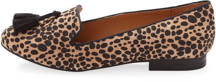 Kelsi Dagger Tabitha Tassel Suede Loafer, Leopard