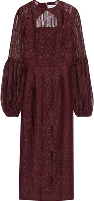 Rebecca Vallance Open-back Lace Dress