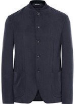 Giorgio Armani Slim-Fit Matte-Satin Jacket