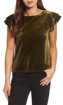 Halogen Women's Flutter Sleeve Velvet Top