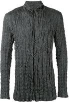 Issey Miyake wrinkled blazer - men - Linen/Flax/Polyester - 3