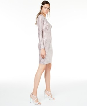 Morgan & Company Juniors' Metallic Bodycon Dress