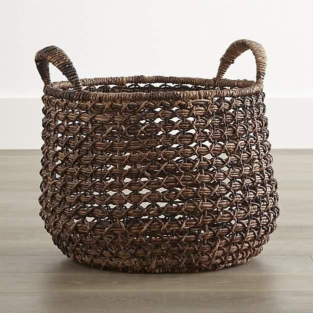 Crate & Barrel Zuzu Round Handwoven Basket