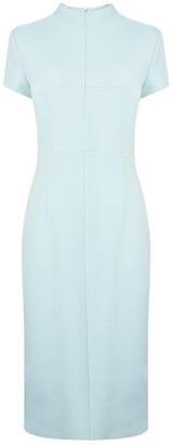 HUGO BOSS Slim Fit Mock Neck Italian Jersey Dress