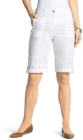 Chico's Casual Roll-Cuff Shorts in Optic White - 13 Inch Inseam