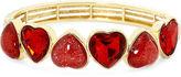 Liz Claiborne Red Heart Stretch Bracelet