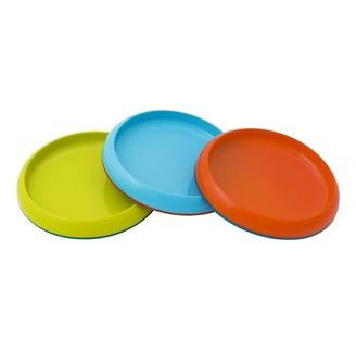 Boon PLATE Edgeless Nonskid Plate Assorted 3 pack Blue/Orange Orange/Blue Green/Blue