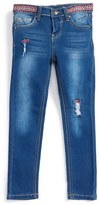Vigoss Girl's Embroidered Skinny Jeans