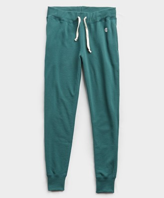 Todd Snyder + Champion Terry Slim Jogger Sweatpant in Storm Green