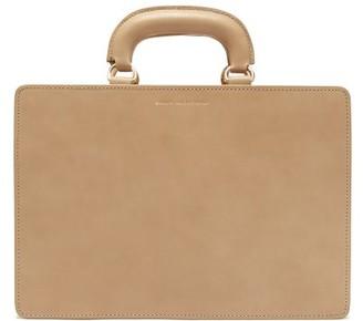 Emilia Wickstead Briefcase Leather Bag - Tan
