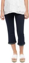 Motherhood Indigo Blue Secret Fit Belly Dark Maternity Crop Jeans