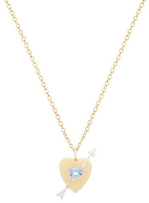 Irene Neuwirth - Noksa Diamond, Sapphire & 18kt Gold Necklace - Womens - Yellow Gold