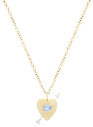 Irene Neuwirth Noksa Diamond, Sapphire & 18kt Gold Necklace - Yellow Gold