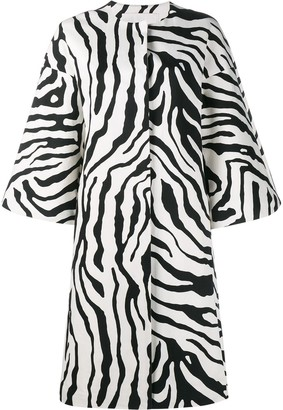 Adam Lippes Zebra Print Cocoon Coat