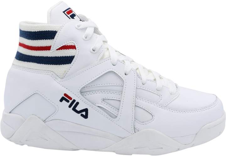 Fila Mens White/Navy/Red Cage Sneakers-UK 9