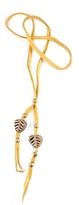 Vanessa Mooney Ayasha Woven Bead Leather Necklace