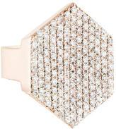 Jennifer Fisher Pavé Diamond Hex Signet Ring