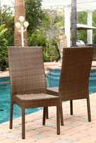 Passa Outdoor Brown Wicker Dining Chair - Set of 2