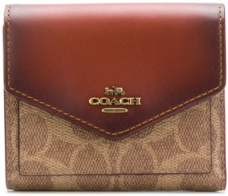 Coach signature canvas small wallet